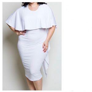 Laura Bodycon Cape Dress